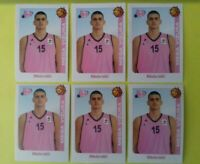 6 x Nikola Jokic #129 ROOKIE sticker Mega Vizura Denver Nuggets ABA LEAGUE14-15
