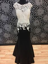Black and White Formal Gown