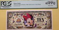 2005T $10 Minnie Disney Dollar PCGS Graded Gem New 65PPQ T00525202