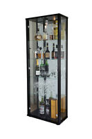 RETAIL SHOP DISPLAY GLASS DISPLAY LOCKABLE DOUBLE CABINET VARIOUS COLOURS
