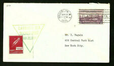 1935 US First Rocket Flight Cover Mail Postal w/ Rocket Stamp 9/22/1935 New York