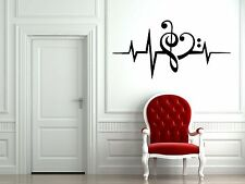 Vinyl Wall Decal Sticker Room Music DJ Notes Love Sound Waves EDM Cool F1956