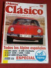 Spanish Motor Clasico magazine Nov 1993 featuring Alpine Renault A108 110