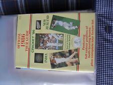 cricket official 1986 tour guide england v  india / new zealand