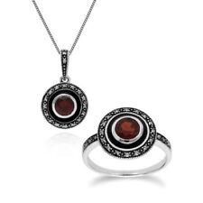 Conjuntos de joyas con diamantes o gemas marcasita