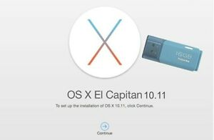 Media Installation Bootable USB Kit compatible For MacOs X ElCapitan 10.11