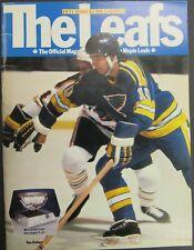 1981 Maple Leaf Gardens NHL Program Toronto vs St. Louis Blues Dave Babych
