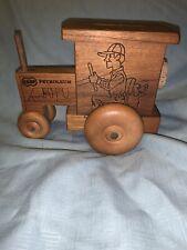 Vintage Toystalgia 1979 Coop Petroleum Wooden Tractor Bank
