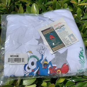 Vintage 1996 Atlanta Olympics Youth Medium Sweatshirt vtg 90s izzy mascot nwt