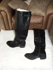 NEW IN Box A.N.A. $109 BLK  Buckle riding calf high tall heeled Boots size 5.5 m