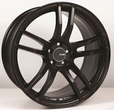 18x8 Enkei TX5 5x108 +45 Black Rims Fits Focus Svt Escort