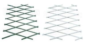 PLASTIC EXPANDING GARDEN WALL FENCE PANEL PLANT TRELLIS SUPPORT CLIMB 6FT X 17""