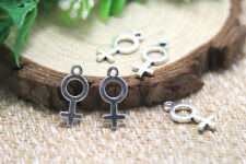 40pcs Female Symbol Charms Antique Silver Tone Gender 8x18mm