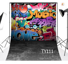 Graffiti Style Studio Backdrop Polyester Photography Background 5X7FT Washable