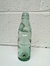 Rare Vintage Clear Glass Bottle Marble Seal Hayes & Conning The Holt Rainhill