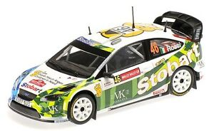 """MINICHAMPS 1/43 """"STOBART"""" FORD FOCUS RS WRC #46 RAC RALLY 2008 VALENTINO ROSSI"""