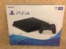 Sony PlayStation 4 Slim 1TB Jet Black Console PS4 Video Games Pro System Bundle
