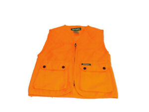 Remington Vest Blaze Orange Full Zip Front Pockets Quilted Hunting Youth 14/16