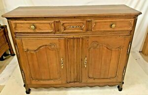 Antique French Oak Provincial Louis XV Style Chest Buffet Cabinet Sideboard Farm