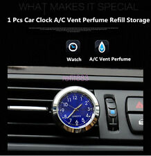 Car Clock Watch Thermometer A/C Vent Clip Gauge Trim Perfume Refill Storage& LED