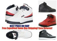Mens Fila Vulc13 Mid Plus Suede Leather Mid HighTop Casual Athletic Shoes