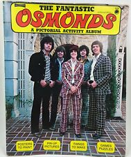 Vintage 1970's Fantastic Osmonds Book for Coloring Crafts Photographs Activities