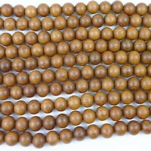 Natural Madre De Cacao Wood Round Beads Various Sizes
