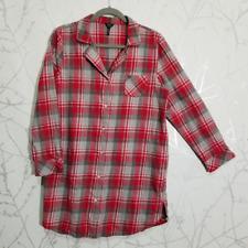 Buffalo David Bitton Red Plaid Checks Flannel Tunic Shirt   Women's M