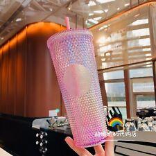 Starbucks 2020 China Shinning Pink Sakura SirenLogo Diamond 24oz Studded Tumbler