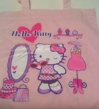 Sanrio Hello Kitty Couture Style Cotton Tote Bag Rare 2007 Shopping Fashion New