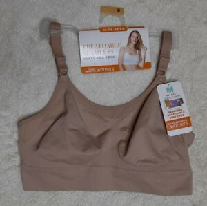 Blissful Benefits by Warner's Seamless Breathable Wire-Free Size Medium Beige