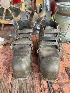 Antique Maritime MORSE Deep Sea Diving Boots Weighted Vintage Scuba Dive  Marked