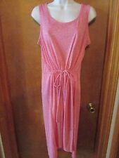 "Ladies ""Sonoma"" Size L, Pink, Sleeveless, Drawstring Waist, Pocket T, Shirtdress"