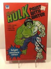 Rare Vintage WHITMAN INCREDIBLE HULK PAINT WITH WATER Mint Sealed in Box