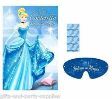 Disney Princess Cinderella Party Game Wall Poster Girls Birthday Party Supplies
