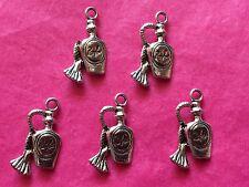 Tibetan silver flacon de parfum #2 charms 5 per pack