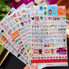 6 sheet Drawing Market calendar Card Scrapbooking Diary Decoration pvc  Sticker