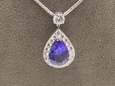 Pear White Gold 18 Carat Fine Diamond Necklaces & Pendants