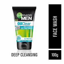 Garnier Men Oil Clear Icy Face Wash 100g All Day Oil free Feel Remove Excess Oil