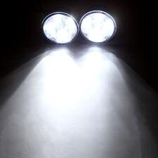 2pcs 4LED Car Auto Daytime Running Fog Light DRL LED Driving Lamp 800LM White