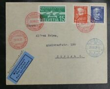 TIMBRES DE SUISSE : GIRO AERO D'EUROPA - BELLINZONA / GINEVRA - 28 VIII 1932