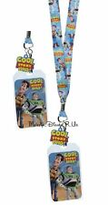 Disney Toy Story Woody Buzz ID Card Pin Holder Pin Lanyard Cool Story Bro Charm
