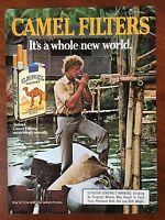 VINTAGE 1986 Original Print Ad CAMEL FILTERS Smooth CIGARETTES ~Whole New World~