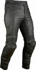 Black Motorcycle Trousers