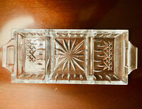 Waterford Lead Crystal Divided Tray Lismore 3-part Serving Dish.  Stunning!