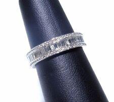 Ladies 18k White Gold Channel Set White Diamond Baguette Eternity Ring 1.76ct