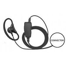 1-Wire D-Ring Fiber Cord Adjustable Earpiece Mic Inline Ptt for Hyt Pd Series