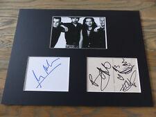 U2 signed signiert Autogramme in 30x40 cm Passepartout InPerson SELTEN
