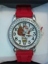 MIXIT Santa Clause Glitter Christmas Silicone Band Womens JCPenney Watch NEW!