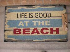The Beach - Natural Coir On PVC Door Mat